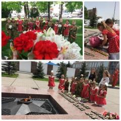 Возложение цветов к мемориальному комплексу «Вечный огонь»
